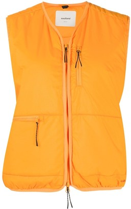 Soulland Padded Zip-Up Gilet