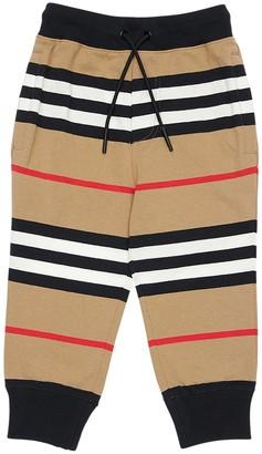 Burberry Signature Striped Cotton Sweatpants