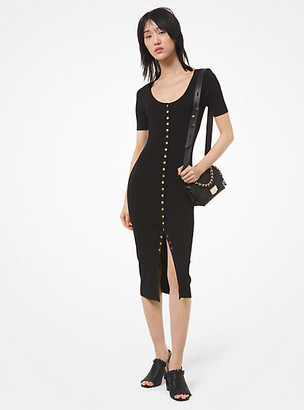 Michael Kors Stretch Viscose Snap-Front Dress