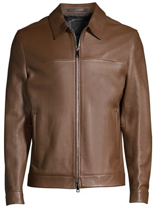 Theory Roscoe Plover Leather Jacket