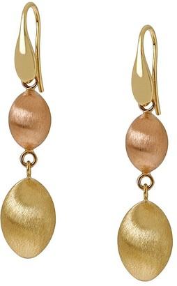 Arte d'Oro Two-tone Satin Bead Dangle Earrings,18K Gold