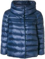 Herno three-quarter sleeved jacket - women - Cotton/Feather Down/Polyamide/Goose Down - 40