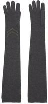 Brunello Cucinelli Embellished Cashmere Gloves - Dark gray