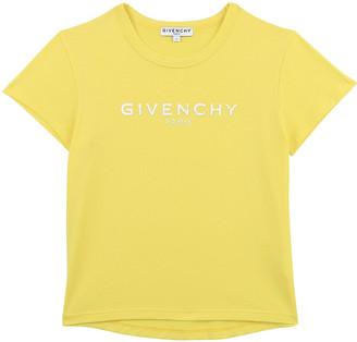 Givenchy Girl's Logo-Print Short-Sleeve Cotton Shirt, Size 4-10