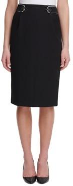 Tommy Hilfiger Button-Tab Pencil Skirt