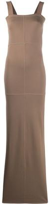 Lemaire square neck maxi dress