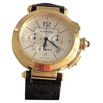 Cartier Pasha Chronographe Gold Yellow gold Watches