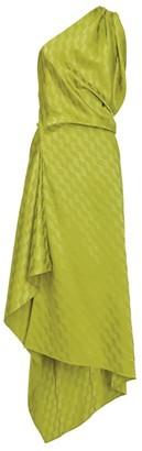 ATTICO Jacquard One-Shoulder Dress