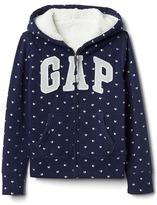 Gap Cozy logo hearts hoodie