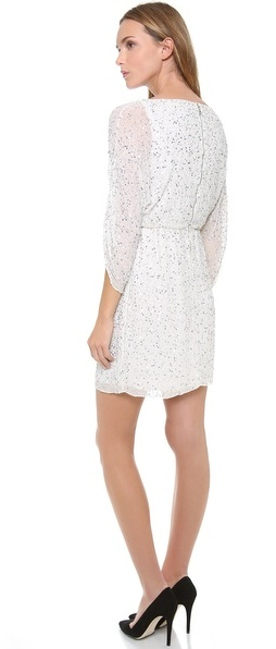 Alice + Olivia Olympia Embellished Tunic Dress