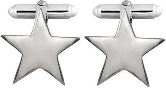 Edge Only Star Cufflinks In Silver