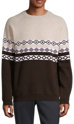 Theory Argyle Wool & Cashmere-Blend Sweater