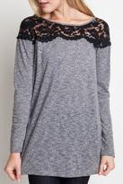 Umgee USA Lace Detail Top