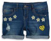 Vigoss Girl's The Jagger Embroidered Denim Shorts