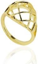 Noir Brass 18kt Warped Ring Size 6