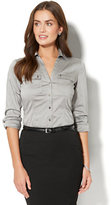 New York & Co. 7th Avenue - Madison Stretch Shirt - Button-Front - Petite