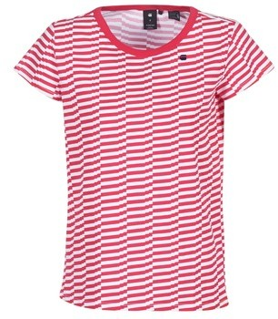 G Star Raw RC LOAV STRIPE STRAIGHT R T WMN S/S women's T shirt in Red