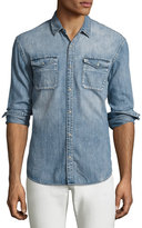 John Varvatos Denim Western Shirt, Blue