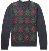 Valentino Argyle Mohair-Blend Sweater