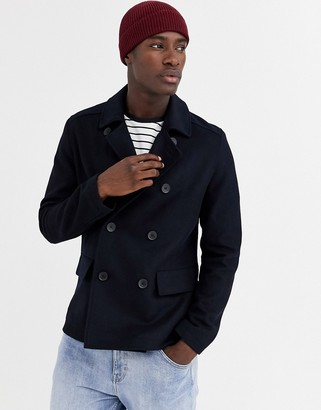 French Connection wool blend pea coat
