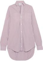 Vetements Oversized Striped Cotton Shirt - Burgundy