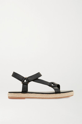 ST. AGNI Net Sustain Sportsu Leather Sandals - Black