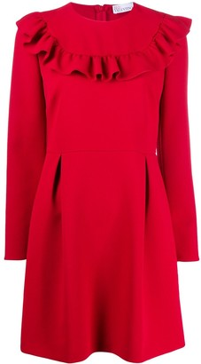 RED Valentino ruffle detail A-line dress