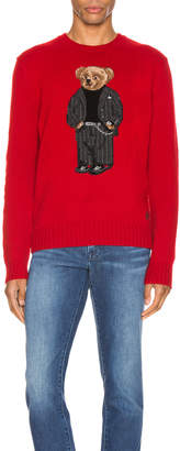 Polo Ralph Lauren Wool Blend Icon Sweater in Red & Suit Bear | FWRD