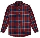 Burton Mens Big & Tall Burgundy Long Sleeve Brushed Check Shirt