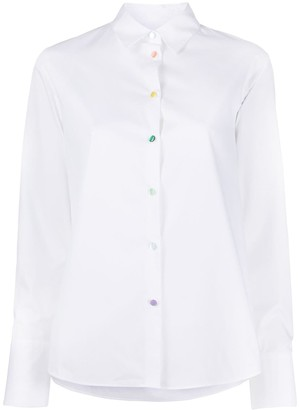 Paul Smith rainbow button shirt