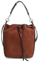 AllSaints Ray Nubuck Leather Bucket Bag - Brown