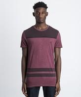 Religion Oil Wash Stripe T-Shirt