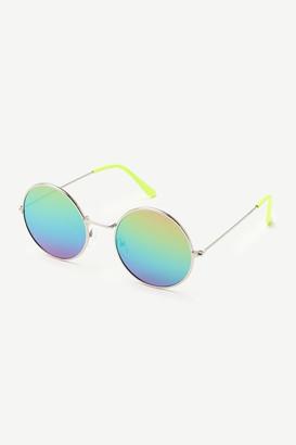 Ardene Iridescent Round Sunglasses