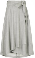 CITYSHOP asymmetric check skirt