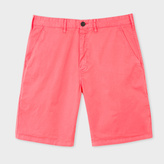 Paul Smith Men's Pink Garment-Dyed Stretch Pima-Cotton Shorts