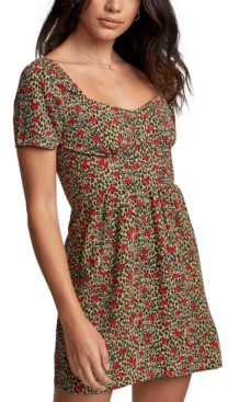 RVCA Juniors' Printed Mini Dress