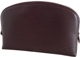 Louis Vuitton Burgundy Leather Travel bags