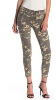 KUT from the Kloth Connie Ankle Skinny Raw Hem Camo Jeans (Regular & Plus Size)