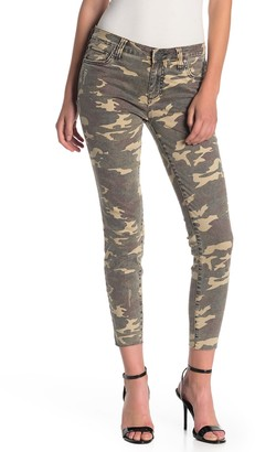 KUT from the Kloth Connie Ankle Skinny Raw Hem Camo Jeans