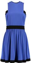 Balmain Pleated satin-jersey dress