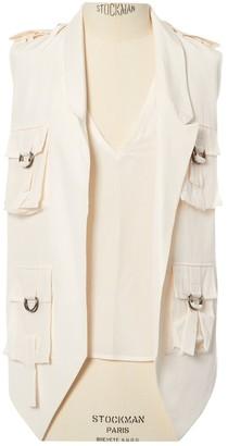 Les Hommes Ecru Silk Jacket for Women
