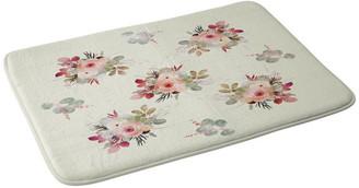 "Deny Designs Iveta Abolina Rose Tan Memory Foam Bath Mat, 17""x24"""