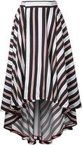 G.V.G.V. stripe high low hem flared skirt - women - Rexcell - 34