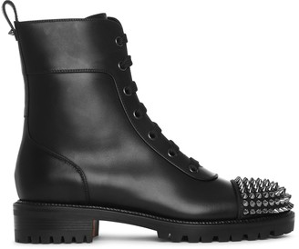 Christian Louboutin Ts Croc flat black ankle boots