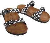 Birkenstock Girls Tahiti Birko-Flor Narrow Fit Sandals Mickey Allover Head Black