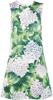Dolce & Gabbana sleeveless hydrangea print dress - women - Silk/Cotton/Spandex/Elastane/Viscose - 40
