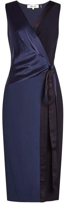 Diane von Furstenberg Wrap Dress with Satin