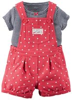 Carter's Baby Girl French Terry Shortalls & Tee Set