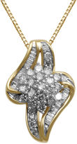 FINE JEWELRY 3/4 CT. T.W. Diamond In 10K Yellow Gold Pendant Necklace