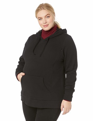 Motherhood Maternity Women's Maternity Plus-Size Long Sleeve Hooded Fleece Nursing Sweatshirt